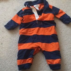 Baby Boy Striped Polo Outfit